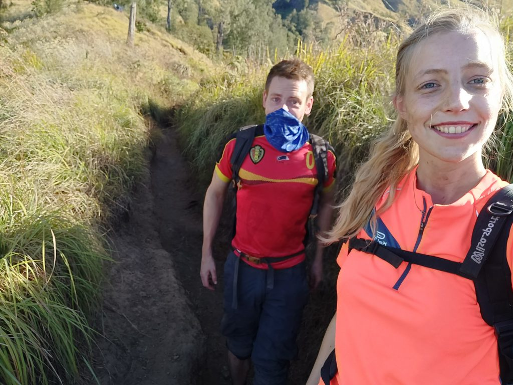 trek rinjani down